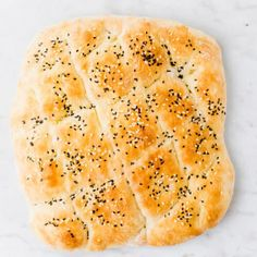 Making your own homemade Turkish Pide Bread is so easy and doesn't even involve kneading. Let me show you how to bake this Turkish Bread recipe at home! Low Carb Chicken Recipes, Bread Recipes, Crockpot Recipes, Turkish Pide Bread Recipe, Crepes, Guacamole, Olive Oil Bread, Instant Yeast, Cooking