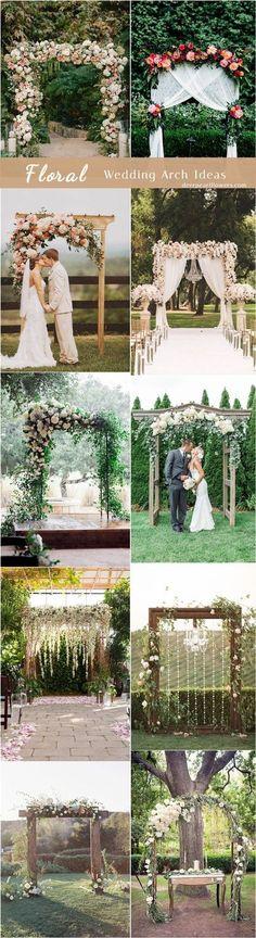 Floral wedding ceremony arch ideas