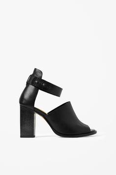 Wood heel sandals