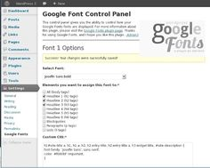 How to Use Google Web Fonts in Your Wordpress Website