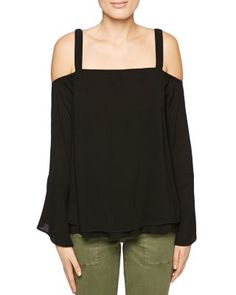 Sanctuary Melody Cold Shoulder Bell Sleeve Top | bloomingdales.com