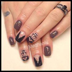 Negative space, nail art, geometric nail art