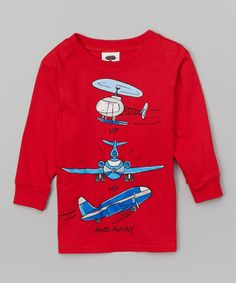 This Red 'Up Up and Away' Tee - Infant, Toddler & Boys is perfect! #zulilyfinds