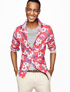 Photographer Tom Schirmacher shoots model Conrad Bromfield for a new style spread in GQ's May issue. Featuring styles for an early summer experience, GQ surveys the season's trends for easily accessible looks. Wearing garments from Ralph Lauren Denim & Supply, Tommy Hilfiger, A.P.C., GANT Rugger and more, Conrad models a youthful wardrobe that includes military jackets, distressed denim, floral print shirts and other great pieces.