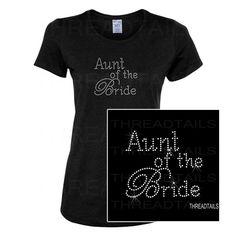 Rhinestone Aunt of the Bride t-shirt