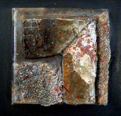 mini mixed media 10 x 10 cm by Gerard Brok