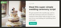 wedding cereony script on offbeatbride