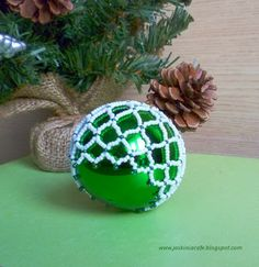 Beaded Christmas Ornament Cover