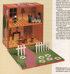 portable dollhouse, woman's day 1982