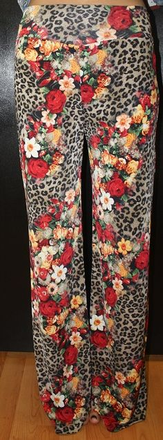 """""""Delicately Wild"""" Printed Pants! Get the here >> http://www.smalltowngypsy.com/catalog.php?item=2480 Like us on facebook!"""