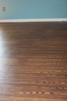 painted plywood floor....I used HGTV's wood graining technique