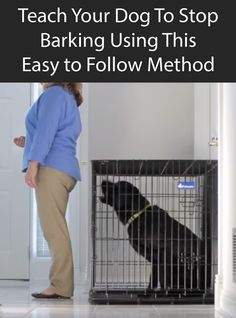 Teach Your Dog To Stop Barking Using This Easy to Follow Method. #DogTraining #AnnoyingDog