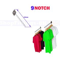 NEW WALL MOUNTED FIXING 9 NOTCHED WATERFALL ARM FOR RETAIL CLOTHES DISPLAY: Amazon.co.uk: Kitchen & Home