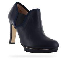 Boots Thadée Bleu classique Effet végétal