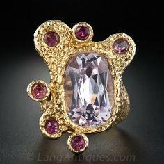 1960s Kunzite & Pink Tourmaline Ring - 30-1-3767 - Lang Antiques