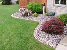 garden bed ideas with pebbles - Google Search