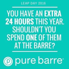 Leap right into your goals and start your Monday off strong  An extra day to #LTB  never miss a Monday workout! #purebarre #purebarreberkeley  #nevermissamonday #leapday by purebarreberkeley