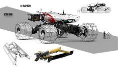 Rough rover by antarktik sanchez gary sci-fi cgsociety sc Concept Ships, Concept Cars, Mode Cyberpunk, Gary Sanchez, Space Engineers, Spaceship Design, Futuristic Cars, Car Sketch, Cool Sketches