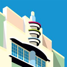 Illustration version of some of the most iconic Miami buildings including classics of the Art Deco style. All of them in a clean and elegant vector style Minimal Photography, Video Photography, Building Illustration, Graphic Illustration, Vector Illustrations, Architecture Graphics, Architecture Posters, Architecture Design, Landscape Architecture