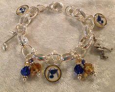 St Louis Blues Charm Bracelet