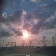 Sunrise ... Beautiful .. On way to university