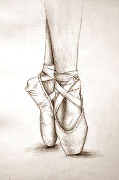 Dibujos de zapatillas de ballet a lapiz, Ballet Shoes Drawing, Dancer Drawing, Ballet Drawings, Dancing Drawings, Ballet Art, Cool Art Drawings, Pencil Art Drawings, Art Drawings Sketches, Cool Sketches