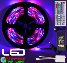 Led Light Strips Walmart Tagital® 164Ft 5M Waterproof Flexible Strip 300Leds Color Changing