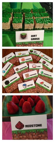 Minecraft Dirt Grass Recipe! #minecraft And so many more MInecraft Party Ideas including food, decorations and games