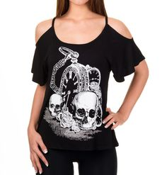 Banned Skull & Watch Top