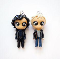 Sherlock and Watson  Miniature Sculptures  by WonderlandContraband, $47.00