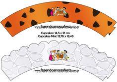 Saias Wrappers para Cupcakes Os Flintstones: