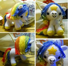 Unicorn Pegasus or Horse Crochet Pattern....Im learning how to crochet just for this! so CUTE!!!!