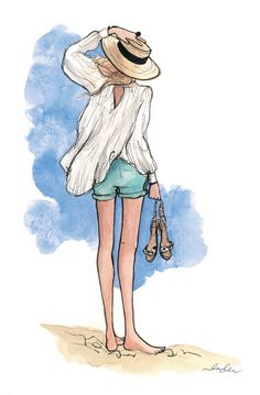 Casual on the Beach -by: Inslee