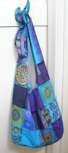 Hippie Tasche zum knoten, beuteltasche nähen, diy Patchy Boho Sling Bag