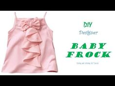 DIY Designer BABY FROCK cutting and Stitching full tutorial/pinz creation Baby Frock Pattern, Frock Patterns, Baby Girl Dress Patterns, Baby Dress Design, Little Girl Dresses, Baby Design, Frock Design, Kids Frocks Design, Baby Frocks Designs