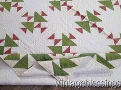Exceptional-Hens-Chicks-ANTIQUE-Civil-War-QUILT-Flying-Geese-Bdr-Turkey-Red-ng