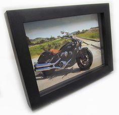 Quadro Decorativo 3d Moto 18x24cm