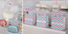Chevron Gender Reveal Party Ideas #Chevron #PartySupplies