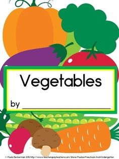 A fun, food themed class book to make, Vegetables will have your students reading, writing, and reviewing sight words.  This packet includes a cover for your class book, a student page, 2 vegetable vocabulary posters, directions, and even suggested literacy connections.  TpT $