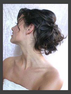 Hairstyles, Vintage Wedding Hair Updo: Simple Style of Wedding Updos For Medium Length Hair