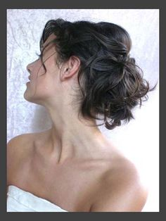 Hairstyles, Vintage Wedding Hair Updo: Simple Style of Wedding Updos For Medium Length Hair