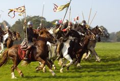 The annual Battle of Hastings reenactment at Battle Abbey in East Sussex