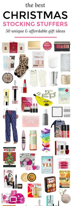 The best Christmas stocking stuffer ideas for women | 50 unique and affordable stocking stuffer ideas that she's guaranteed to love! | Christmas stocking stuffers | Orlando, Florida blogger Ashley Brooke Nicholas