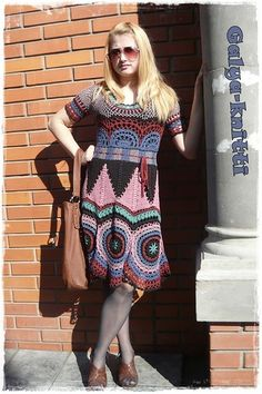 "Photo from album ""Peru sukneles"" on Yandex. Mode Crochet, Diy Crochet And Knitting, Freeform Crochet, Crochet Skirts, Crochet Clothes, Fashion D, Special Dresses, Irish Lace, Little Girl Dresses"