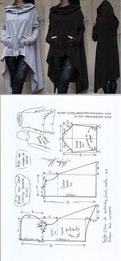 Blusão com capuz – DIY – molde, corte e costura – Marlene Mukai