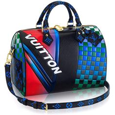 Love It or Leave It Louis Vuitton Race Bags ❤ liked on Polyvore featuring bags, handbags, blue evening purse, louis vuitton handbags, sporty purses, holiday purse and louis vuitton purse