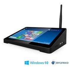 "Original PIPO X9 2GB+32GB Quad Core Mini PC Smart TV BOX Dual OS Windows 10 & Android 4.4 Intel Z3736F 8.9""Tablet In Stock"