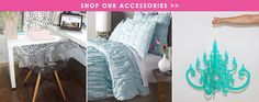 Custom Dorm Room, Teen Girl Bedroom, Apartment & Home Bedding & Decor