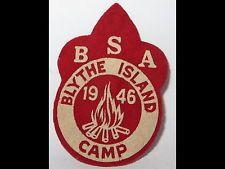 Vintage Boy Scout Patch 1946 Blythe Island Brunswick Georgia Camp Printed Felt