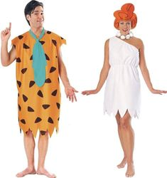 Couples The Flintstones Fred and Wilma Adult Costume Stone Age Halloween - Women Wilma Flintstone Costume, Fred And Wilma Flintstone, Flintstones Costume, Fairy Halloween Costumes, Adult Halloween, Couple Halloween, Halloween Outfits, Halloween 2017, Halloween Ideas
